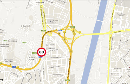 Mapa A-49, Sevilla. Aljarafe