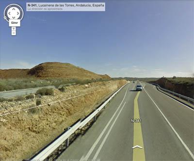 Cruce en carretera A-341 (Almería)