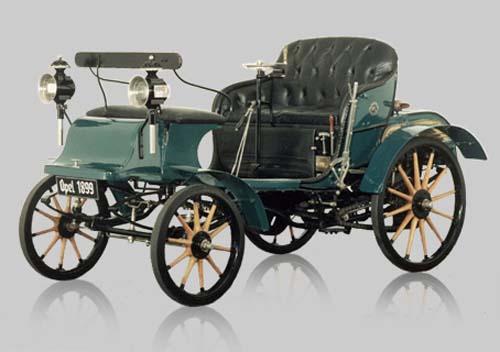 """Opel Patent Motor Car, System Lutzmann"" de 1899"